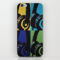 headphones iPhone & iPod Skins featuring Headphones by Brianms18