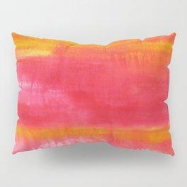 'Summer Day'  Orange Red Yellow Abstract Art Pillow Sham