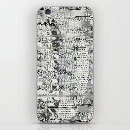 The Eternal Return of the Unique Event (P/D3 Glitch Collage Studies) iPhone Skin