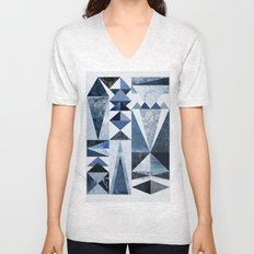 Blue Shapes Unisex V-Neck