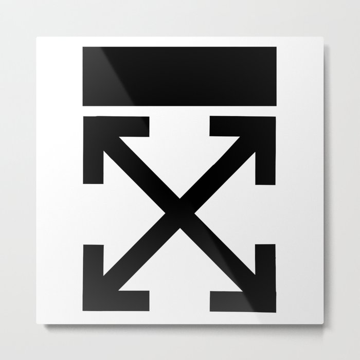 Off white Brushed arrows Metal Print