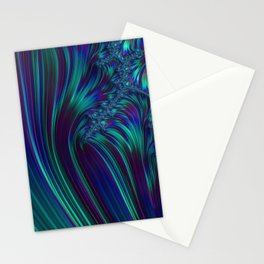 CRASH vivid jewel tones of sapphire blue & emerald green Stationery Cards