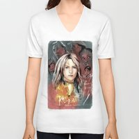 kill bill V-neck T-shirts featuring Kill Bill by RJ Artworks