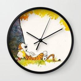 Calvin And Hobbes Cartoon Wall Clock