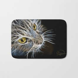 Cat Abstract Bath Mat