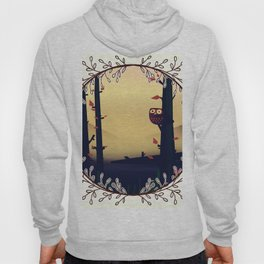 Owl in the woodland Hoody