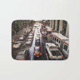Rainy Rush Hour Bath Mat