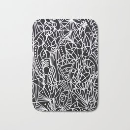 Trust in life - Black and White Art Bath Mat