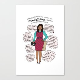 Mindy Kaling the Imaginary Best Friend Canvas Print