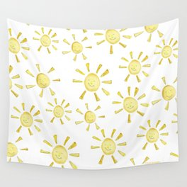 Happy Sunshine Print Wall Tapestry