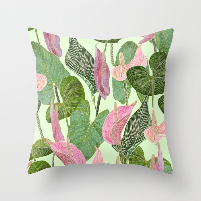 Lush Lily Throw Pillow