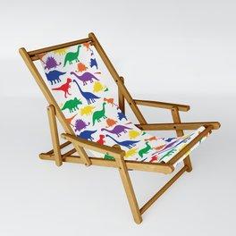 Dinosaurs - White Sling Chair