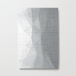 In The Flow - Geometric Minimalist Grey Metal Print