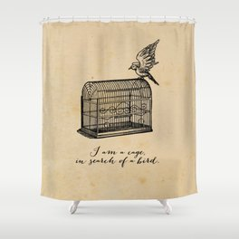 Franz Kafka - Cage in Search of a Bird Shower Curtain