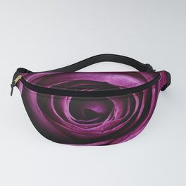 Purple Pink Rose Bloom Fanny Pack