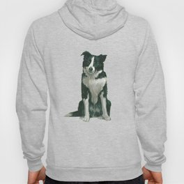 border collie - by phil art guy Hoody