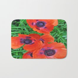 Red Poppies Bath Mat
