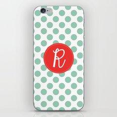 Monogram Initial R Polka Dot iPhone & iPod Skin