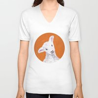 sheep V-neck T-shirts featuring Sheep by KeithKarloff