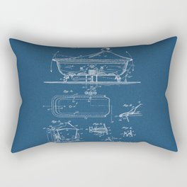 Rocking Oscillating Bathtub Patent Engineering Blueprint Rectangular Pillow
