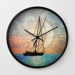 Sail Away With Me Wall Clock