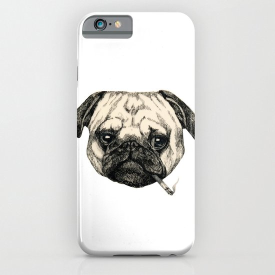 Smoking Pug iPhone & iPod Case
