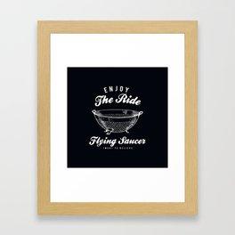 Flying Saucer Framed Art Print