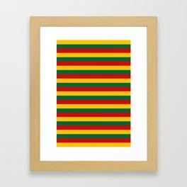 lithuania benin burkina faso flag stripes Framed Art Print