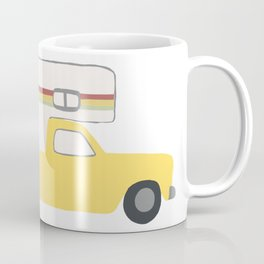 Vintage Truck Campers Rasta Colors Coffee Mug