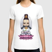 budi satria kwan T-shirts featuring Kwan Yin  by Lurraeh Somohano