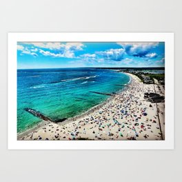 Sand Hill Cove Beach - Narragansett, Galilee, Rhode Island Art Print