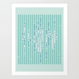 Ocean Reflection – Blue / Teal Midcentury Abstract Art Print
