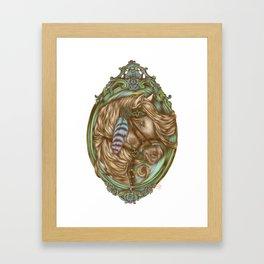 Tribal Horse Framed Art Print