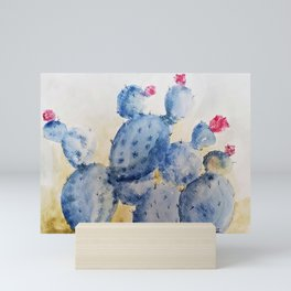 Blue Cactus Mini Art Print