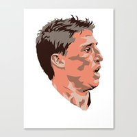 tina crespo Canvas Prints featuring Hernan Crespo by The World Cup Draw