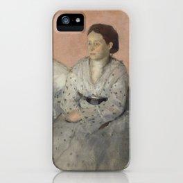 Portrait of Madame René de Gas iPhone Case