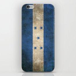 Old and Worn Distressed Vintage Flag of Honduras iPhone Skin