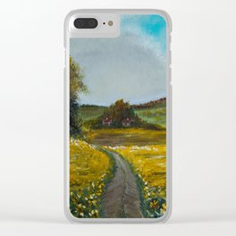 Sunflowers field Clear iPhone Case