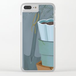 Potting shed Clear iPhone Case