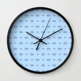 christogram 3 ichthys or ichthus Wall Clock