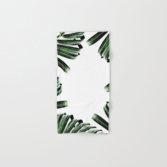 Palm Leaf Watercolor Pattern #society6 #decor #buyart Hand & Bath Towel