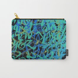 Blue Scribbles Carry-All Pouch
