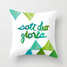 SOLI DEO GLORIA LIFE- BLUE Throw Pillow
