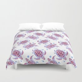 Beautiful Decorative Abstract Turtles Duvet Cover