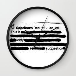 Capricorn 1 Wall Clock
