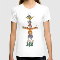 fandom T-shirts featuring The Fandom Totem Pole by Tricksterbelle Productions
