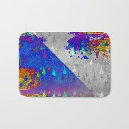Abstract Colorful Rain Drops Design Bath Mat