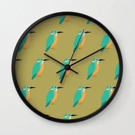 Colourful kingfishers Wall Clock