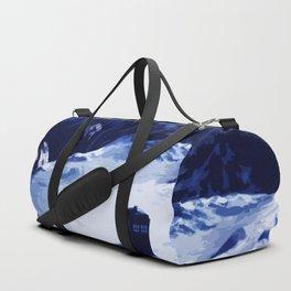 Tardis Art At The Snow Mountain Duffle Bag