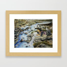 Making Water Lilies Framed Art Print